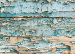 reclaimed wood peeling paint blue